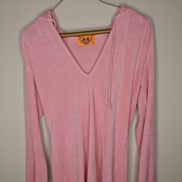 Juicy Couture hoodie toweling terry cloth fabric
